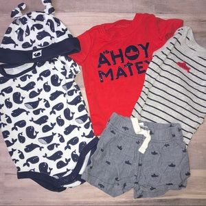 Nautical 3 month baby bundle Gymboree and Carter's